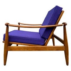 Unique Mid-Century Modern Low Danish Lounge Chair Style of Finn Juhl