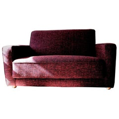 Unique Midcentury Sofa Upholstered with Raf Simons Fabric, Switzerland
