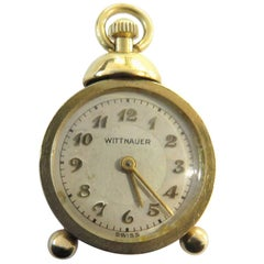 Unique Miniature Working Wittnauer Alarm Clock Gold Charm Pendant