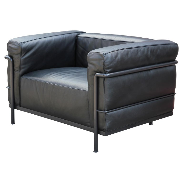 Unique Modern Le Corbusier LC3 Grand Modele Black Armchair ...