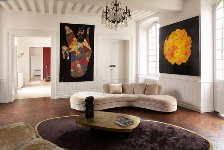Unique Modern Tapestry Designed by Wassily Kandinsky, Sur Fond Noir For Sale 1