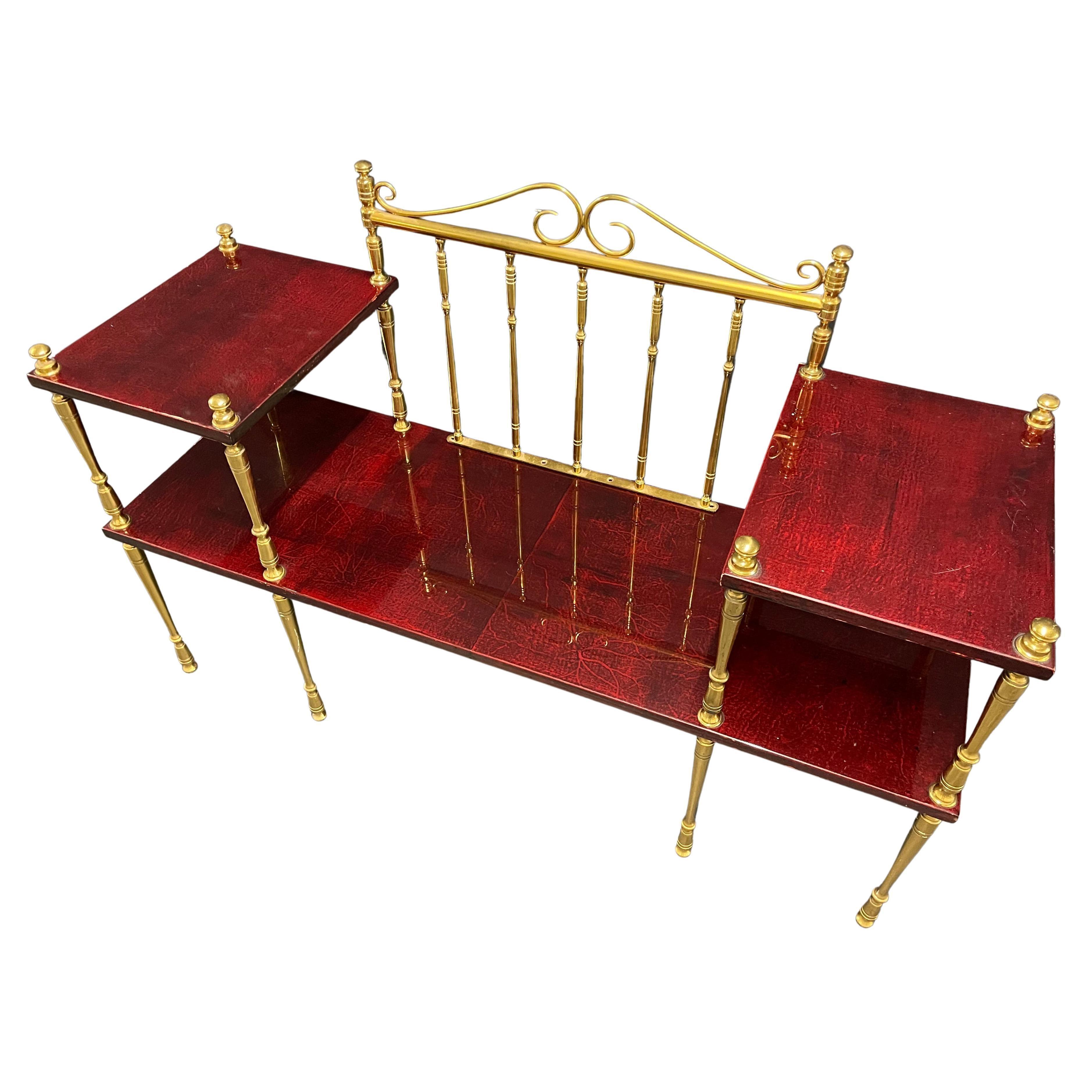 Unique Modular Bench or Shelf by Aldo Tura