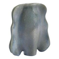 Unique Mottled Blue/Green Glazed Polish Unikat Ceramic Vase