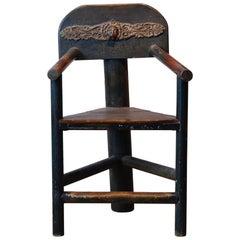 Unique Norwegian Tri-Corner Armchair