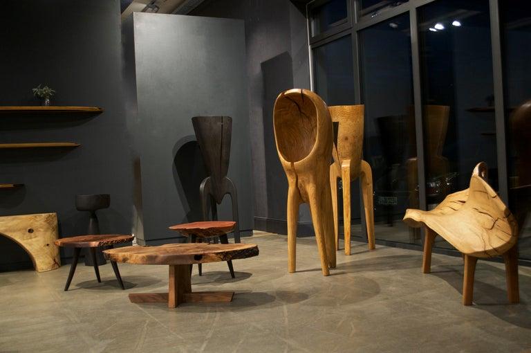 Unique Oak Sculpture Signed by Jörg Pietschmann For Sale 3
