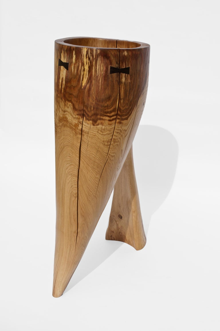Unique Oak Sculpture Signed by Jörg Pietschmann In New Condition For Sale In Geneve, CH