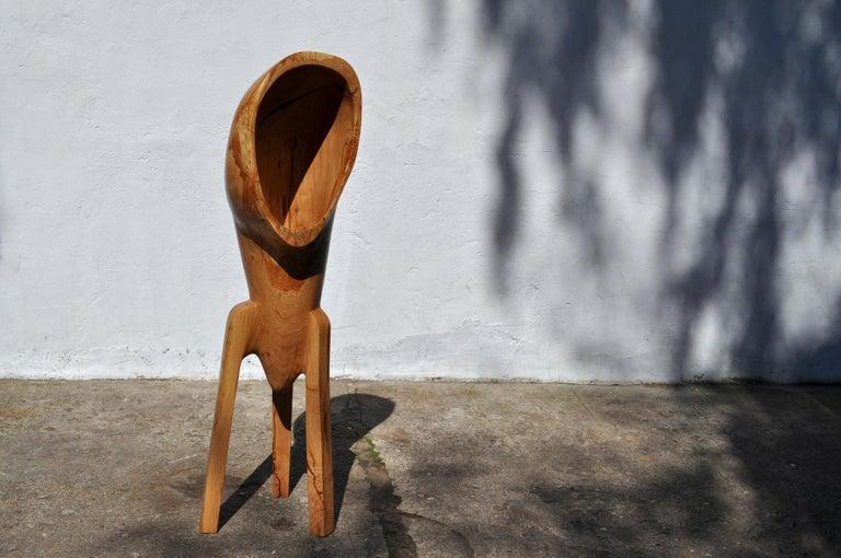 Contemporary Unique Oak Sculpture Signed by Jörg Pietschmann For Sale