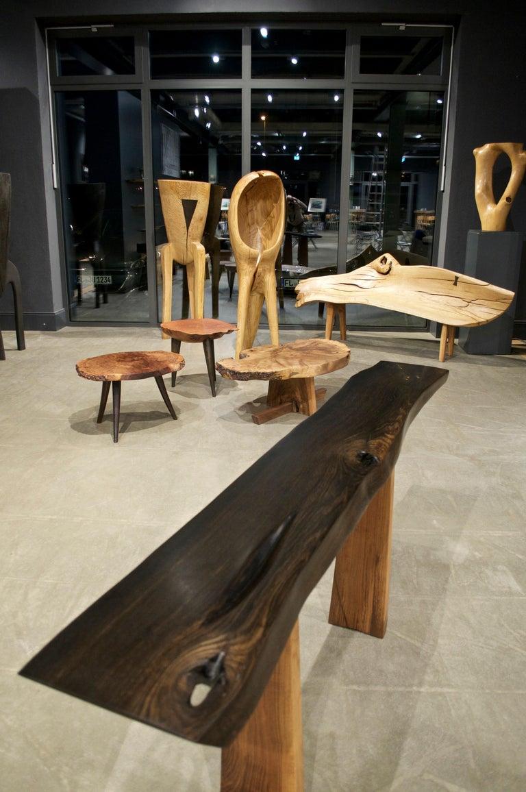 Unique Oak Sculpture Signed by Jörg Pietschmann For Sale 1