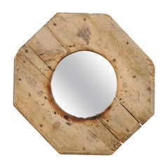 Unique Octagonal-Shaped Mirror with Great Side Profile and Projection from Wall