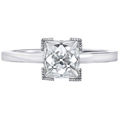 GIA Certified H Vs2 1.79 French Cut Shape Diamond Engagement Ring