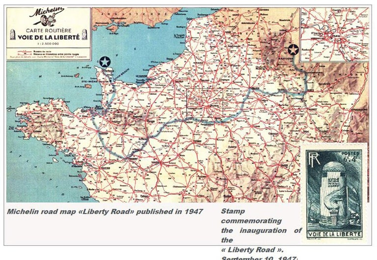 """On the occasion of the 75th Anniversary of D-Day, we are proud to propose Original D-Day Monuments of the Liberty Highway in Normandy.  The """"Liberty Highway"""" History:  Soon after the end of the Second World War, Mr Guy de la Vasselais, French"""