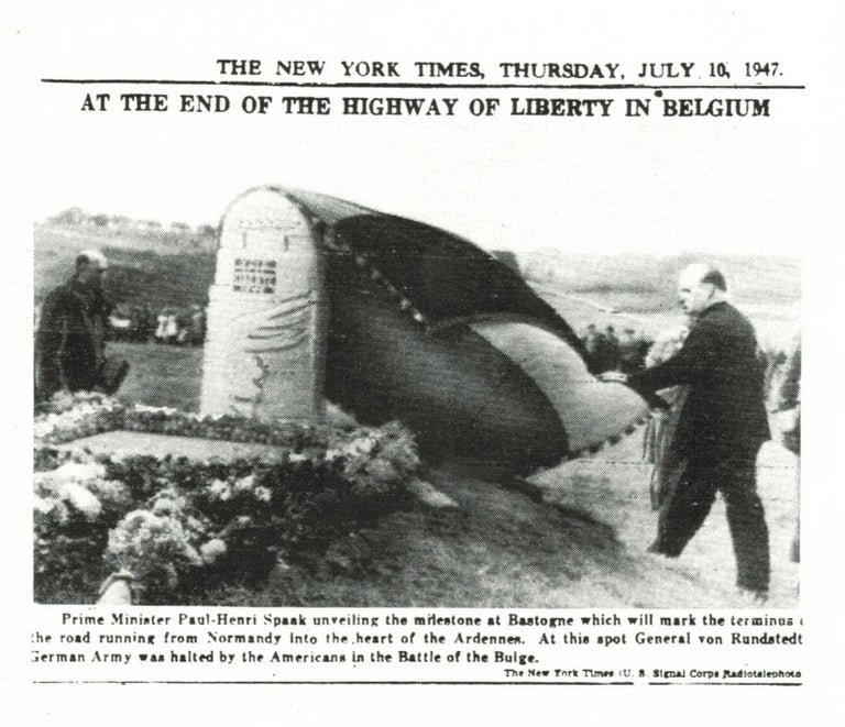 Concrete Unique Original D-Day Monument of the Liberty Highway in Normandy For Sale
