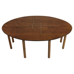 Unique Oval Drop Leaf Dining Table