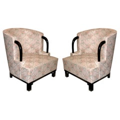 Unique Pair of Art Deco Armchairs by Hubert Martin et Ploquin, France, 1930s