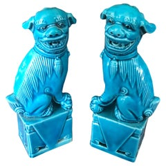 Unique Pair of Decorative Mini Foo Dogs Sculptures