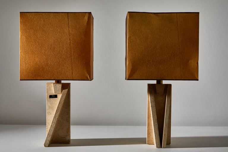 Mid-Century Modern Unique Pair of Table Lamps by Cerri Nestore For Sale