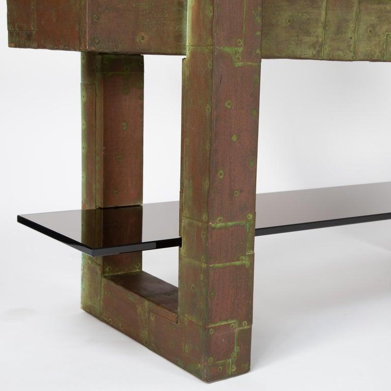 Unique Paul Evans Copper Patchwork Shelving Unit, circa 1968 For Sale 4