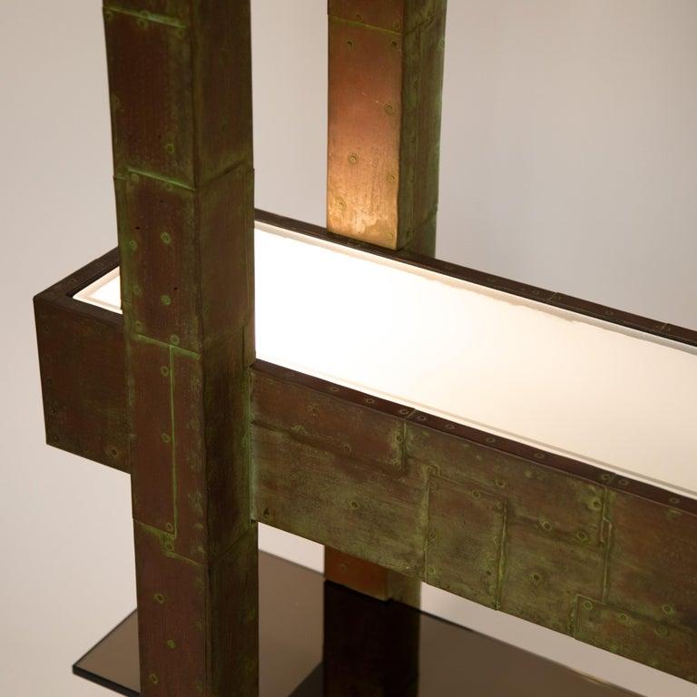 Unique Paul Evans Copper Patchwork Shelving Unit, circa 1968 For Sale 6