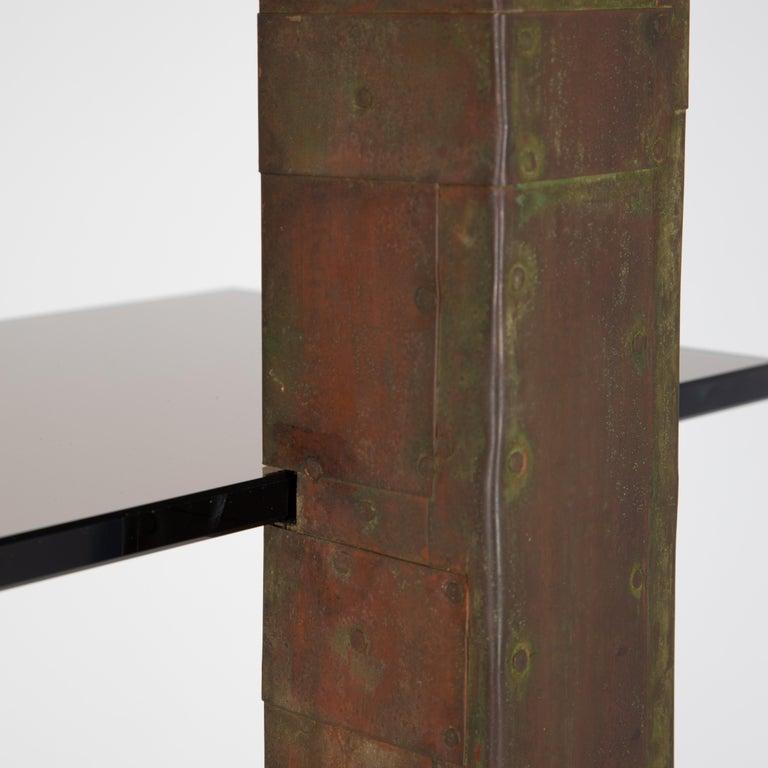 Unique Paul Evans Copper Patchwork Shelving Unit, circa 1968 For Sale 10