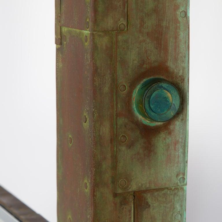 Unique Paul Evans Copper Patchwork Shelving Unit, circa 1968 For Sale 11