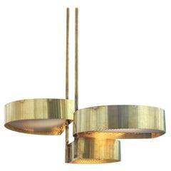 Unique Pétales d'or Pendant Lamp by Koen Van Guijze