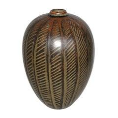 Unique Piece Danish Ceramic by Gerd Bogelund, Mid-Century Modern