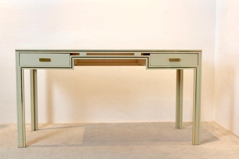 Aluminum Unique Pierre Vandel Paris Desk, France, 1970s For Sale