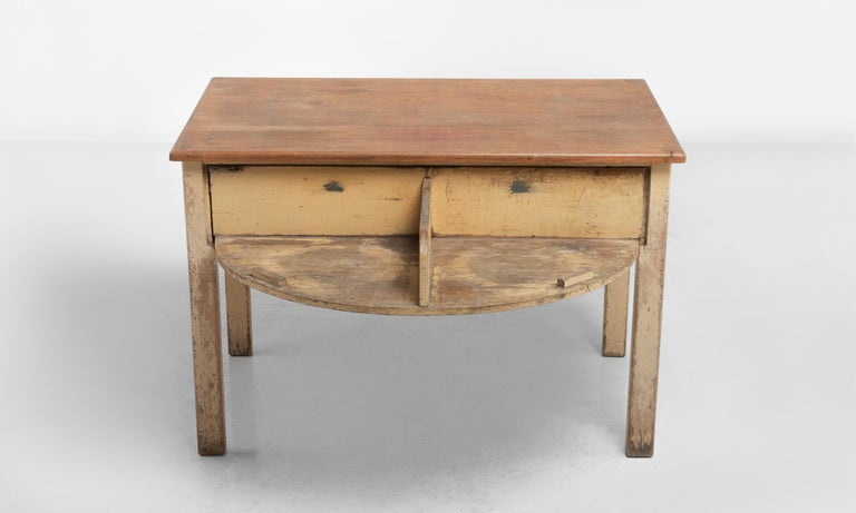 English Unique Pine Potters Table, England, circa 1930 For Sale