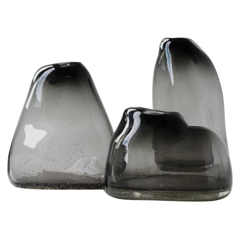 Unique Plyn Set of Vases by Faina For Sale