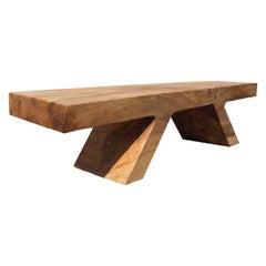 Unique Poplar Bench Sculpted by Jörg Pietschmann