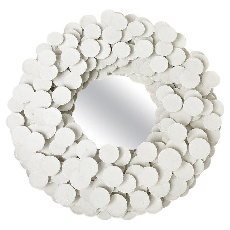 Unique Porcelain Mirror, Sculpture by Mart Schrijvers, 2019 For Sale