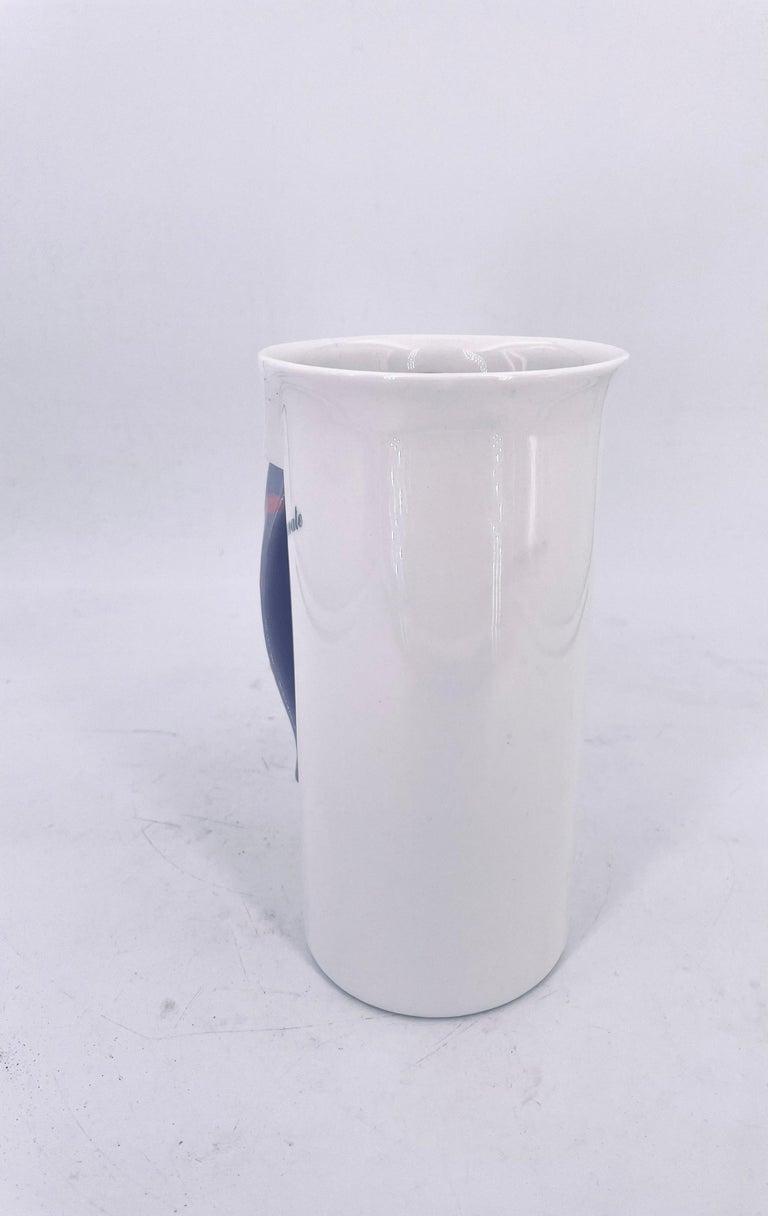 Unique Postmodern Memphis Era Rare Japanese Porcelain Pitcher