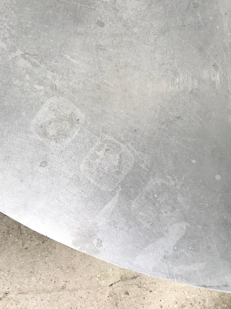 Unique Postmodern Steel and Glass Coffee or Cocktail Table For Sale 4