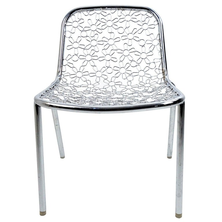 Unique Prototype Chair By Marcel Wanders With Chrome