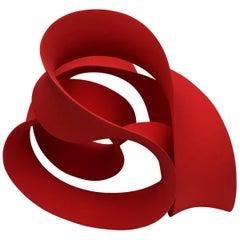 Unique Red Ceramic Sculpture by Merete Rasmussen