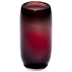 Unique Red Harvest Glass Vase by Tiina Sarapu