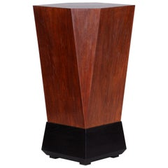 Unique Restored Oak Cubist Pedestal from Czechoslovakia by Josef Gocar, 1920s