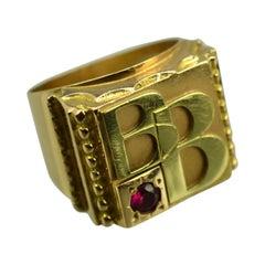 Unique Ring in 14 Karat Gold, circa 1960s
