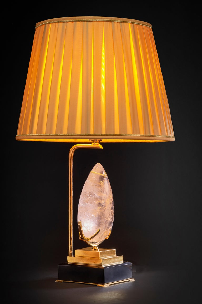 French Unique Rock Crystal Lamp,
