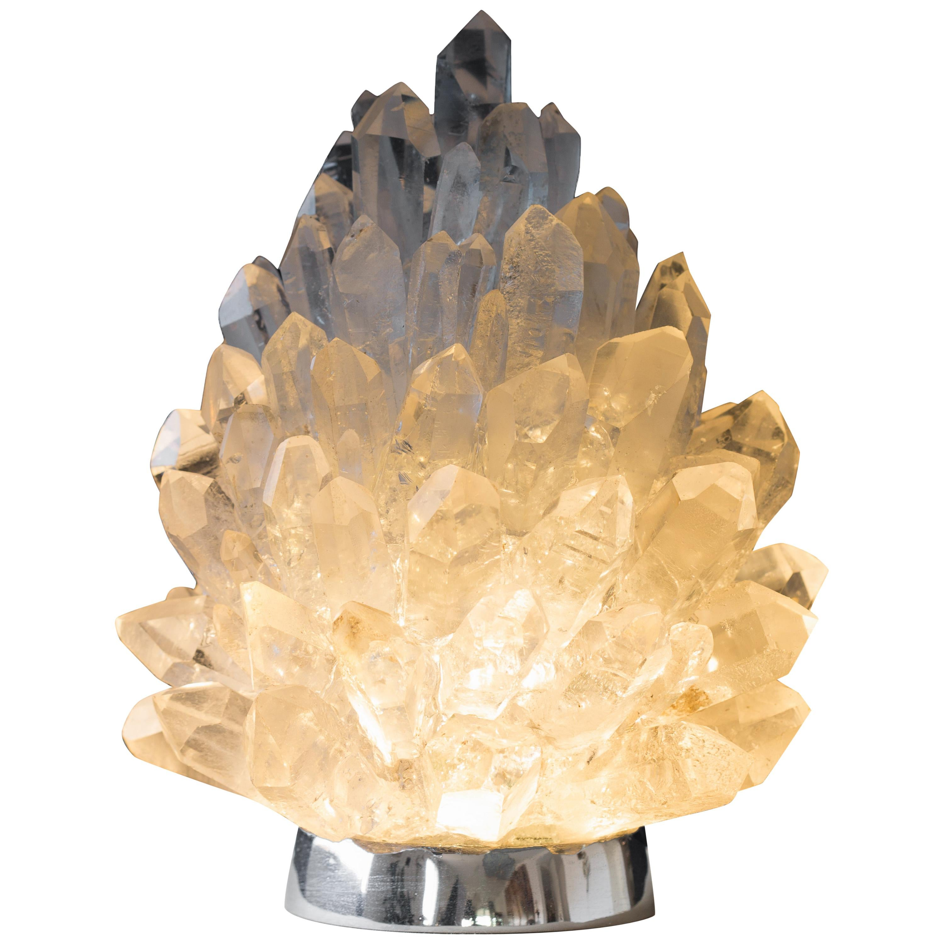"Unique Rock Crystal Lighting ""Liberty"" by Demian Quincke"