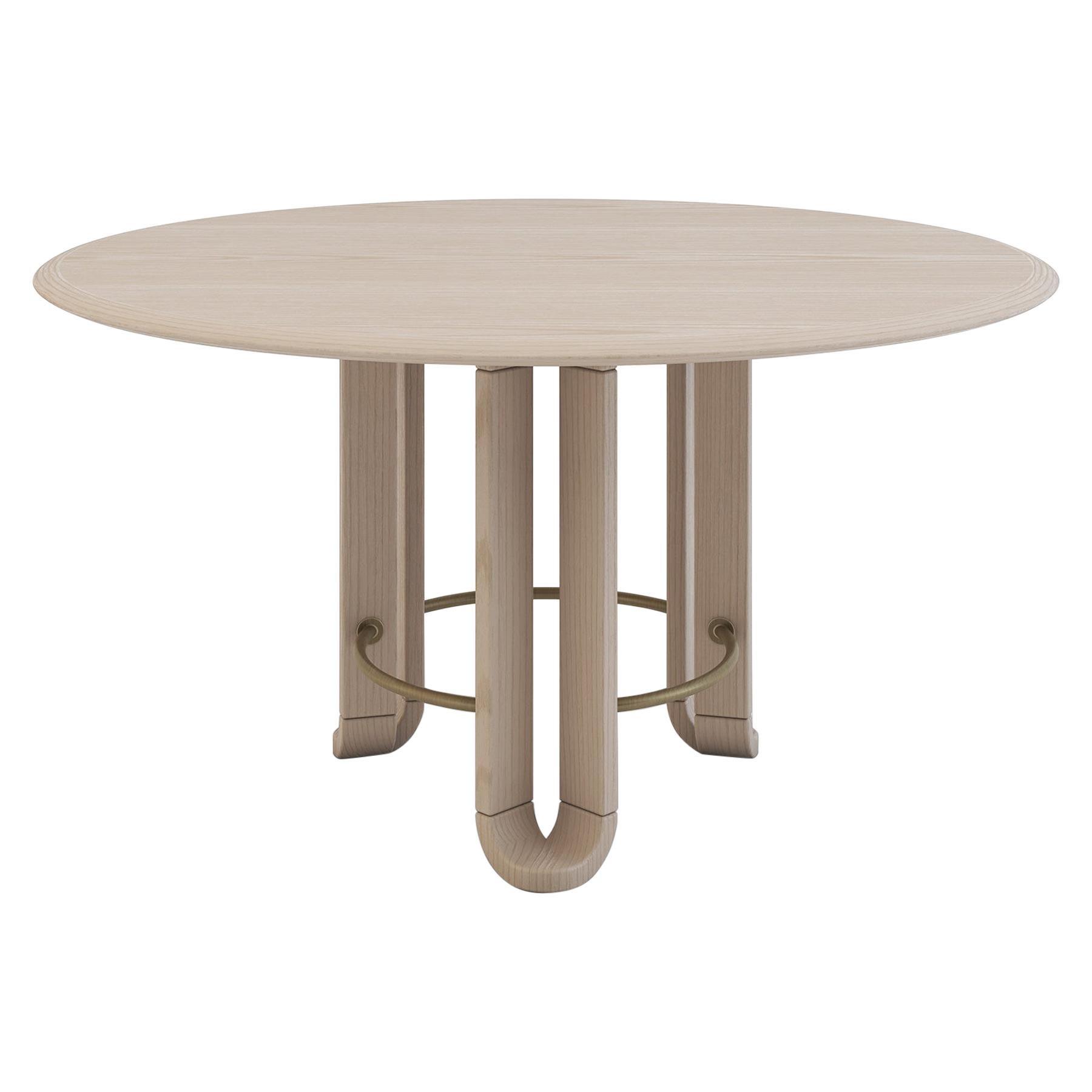 Unique Round Yaprak Dining Table by Feyzstudio