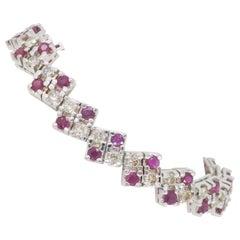 Unique Ruby and Diamond Bracelet