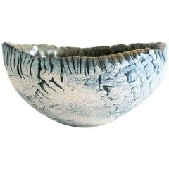 Unique Scandinavian Modern Hand Built and Glazed Bowl by Artist Bengt Berglund