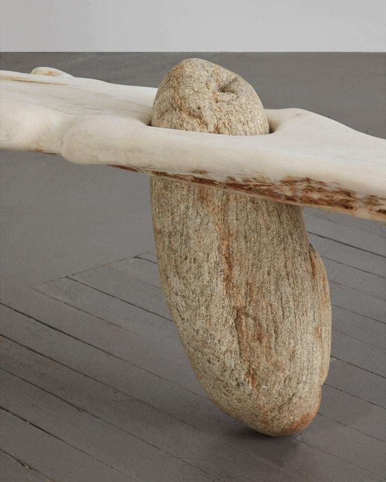 Bleached Unique Sculptural Bench by Rogan Gregory, 2019 For Sale