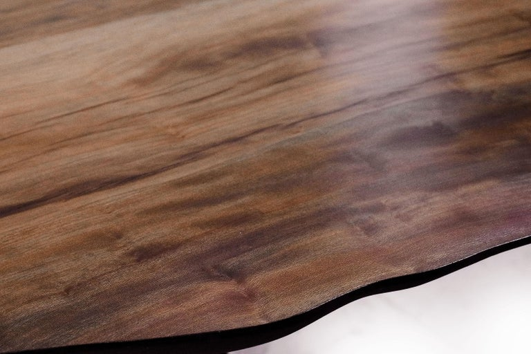Unique Sculptural Dining Table Signed by Cedric Breisacher For Sale 3