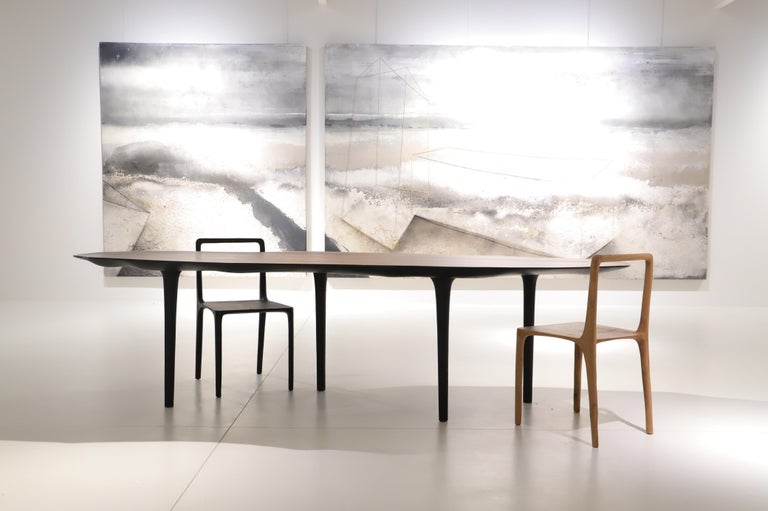 Unique Sculptural Dining Table Signed by Cedric Breisacher For Sale 4