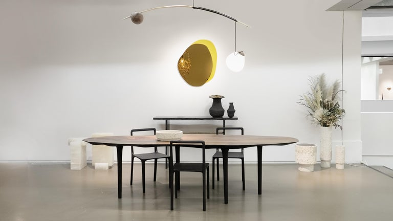 Unique Sculptural Dining Table Signed by Cedric Breisacher For Sale 5