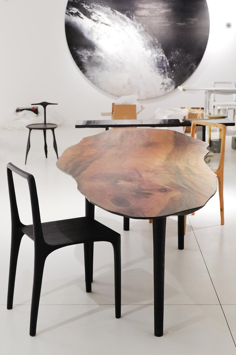Modern Unique Sculptural Dining Table Signed by Cedric Breisacher For Sale