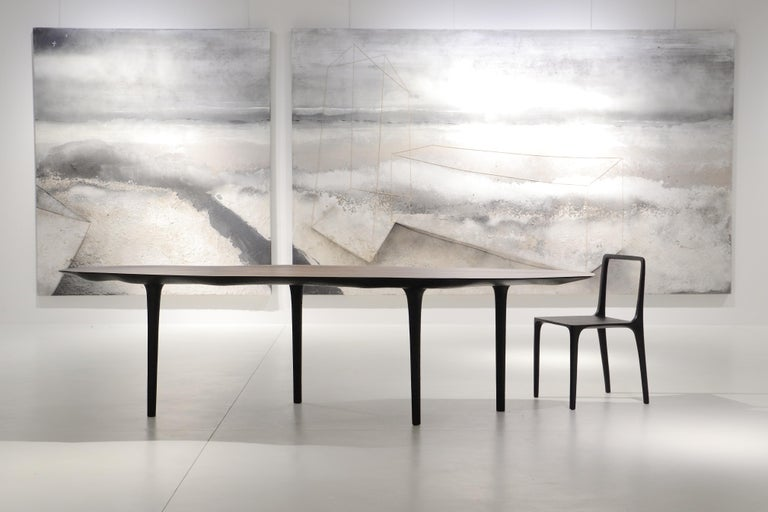 French Unique Sculptural Dining Table Signed by Cedric Breisacher For Sale