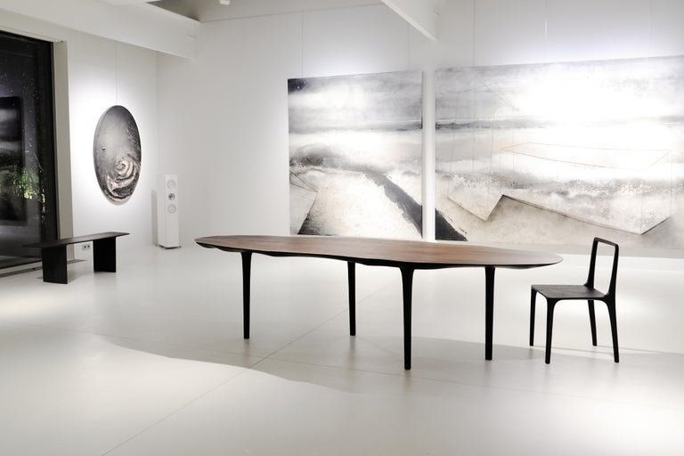 Unique Sculptural Dining Table Signed by Cedric Breisacher In New Condition For Sale In Geneve, CH